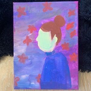 Abstract Acrylics Haunting of Bly Canvas Painting